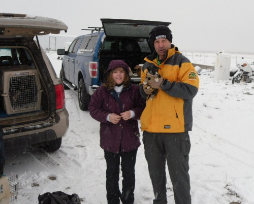 Melanie of Harney County Save A Stray and Byron of Washington State Animal Response Team